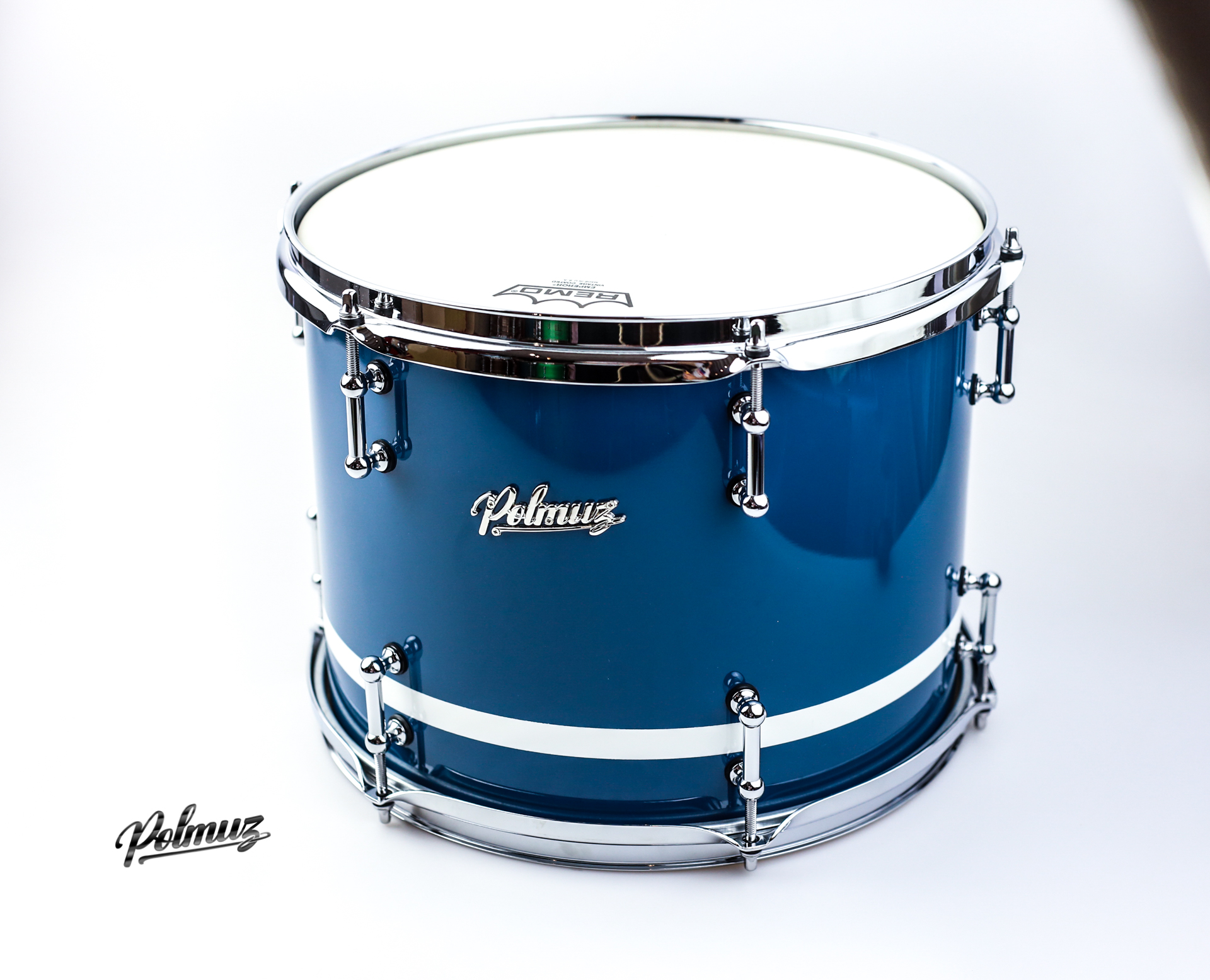 GLOSS BLUE WITH WHITE STRIPE